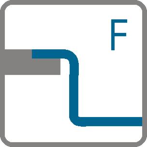 Typy instalace Plně vestavěné dřezy (F)
