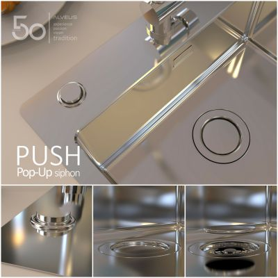 Push Pop Up siphon system